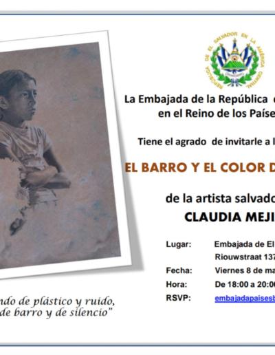 Claudia Mejía - Artista - El Salvador - Exposición en La Haya - Países Bajos - El Barro y el color del tiempo 2019 - 12