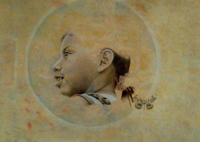 La niña de la polilla