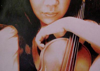 Violin 40x52 cms. tecnica mixta